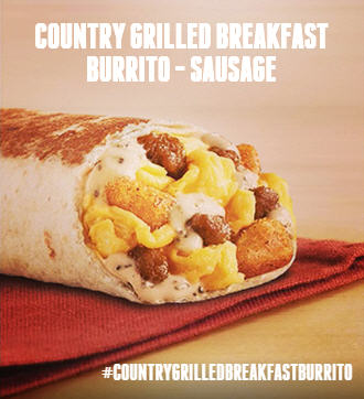 Country Grilled Breakfast Burrito