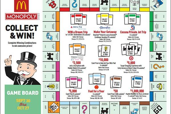 Mcdonalds Monopoly  Rare Game Pieces