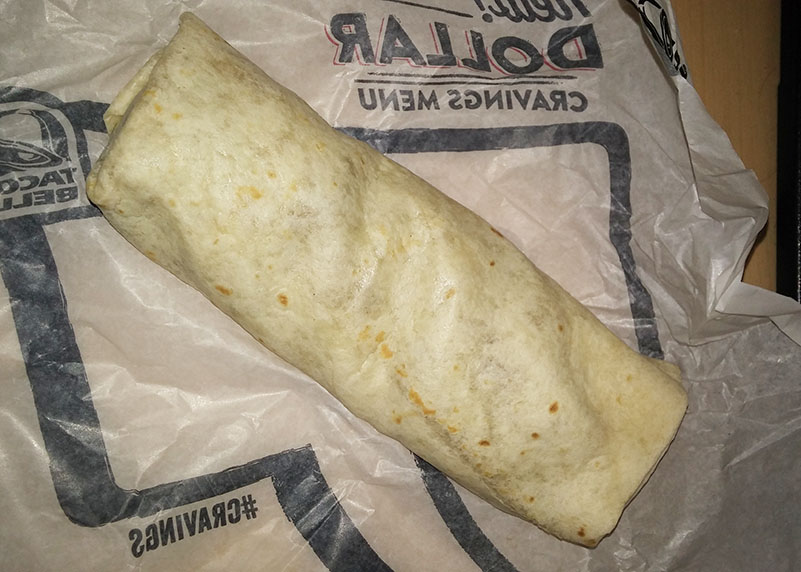 Review Taco Bell Cheesy Bean And Rice Burrito Fast Food Watch