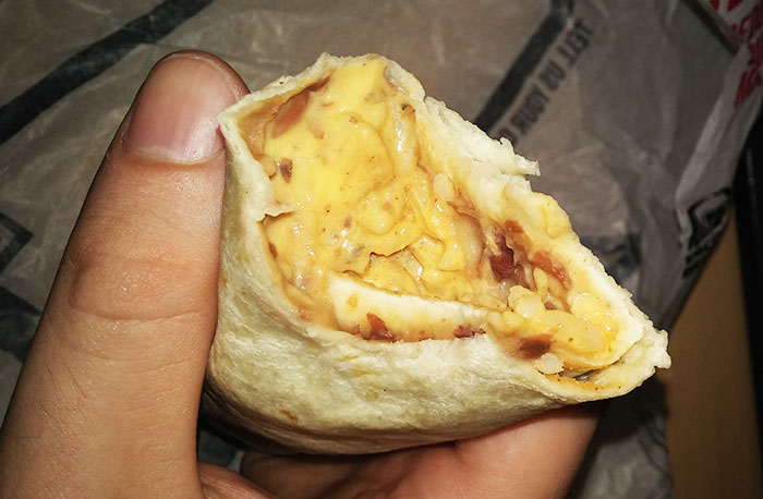 Taco Bell Cheesy Bean and Rice Burrito