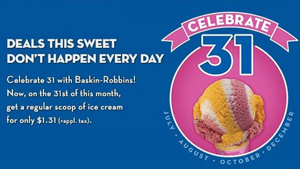 "National Ice Cream Day: Third Sunday in July Look for special ice cream deals and giveaways from stores like Friendly's and Baskin-Robbins on the third ""Sundae"" of July every year (July"