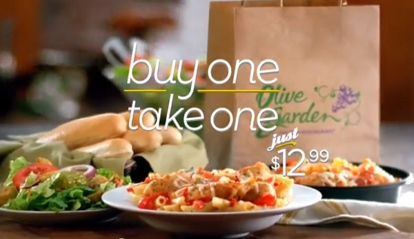 Olive Garden Buy One Take One Deal Is Back Fast Food Watch