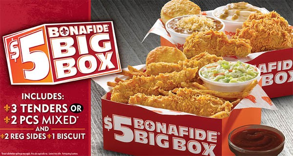 Popeyes Bonafide Big Box for $5 Is Back