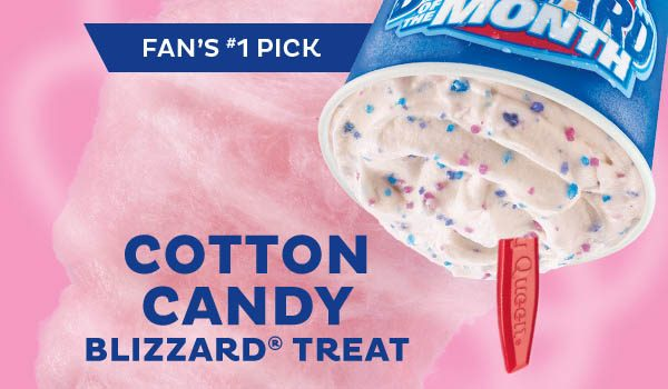Dairy Queen Cotton Candy Blizzards For June